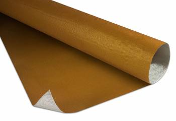 "Thermo-Tec - Thermo-Tec 24 K Heat Barrier 24 x 24"" Self Adhesive Backing Aluminized Fiberglass Cloth - Gold Anodized"