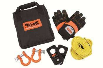 Mile Marker - Mile Marker ATV/UTV Winch Accessory Kit Bag/D-Rings/Gloves/Snatch Block/Strap