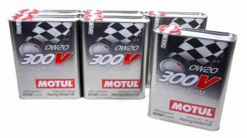 Motul - Motul 300V Racing Motor Oil 0W20 Synthetic 2 L - Set of 6