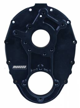 Moroso Performance Products - Moroso Performance Products 1 Piece Timing Cover Aluminum Black Anodize Non-Raised Cam - Small Block Chevy