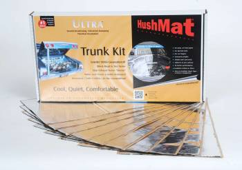 "Hushmat - Hushmat Ultra Trunk Kit Heat and Sound Barrier 12 x 23"" Sheet 1/8"" Thick Rubber - Silver"