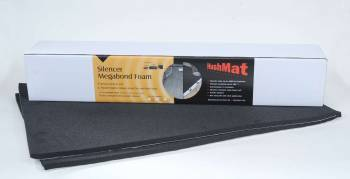 "Hushmat - Hushmat Silencer Megabond Sound Barrier 23 x 36"" Sheet 1/2"" Thick Foam - Black"