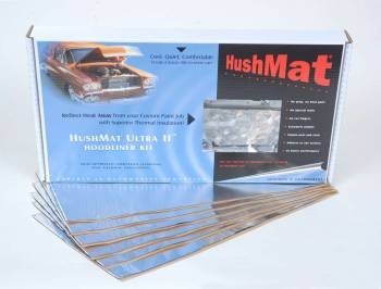 "Hushmat - Hushmat Hoodliner Heat and Sound Barrier 12 x 23"" Sheet 1/8"" Thick Rubber - Black"