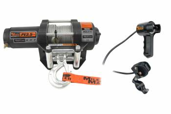 """Mile Marker - Mile Marker ATV Winch 3500 lb Capacity Roller Fairlead Handle Bar Switch - 7/32"""" x 50 ft Steel Rope"""