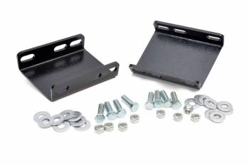 Rough Country - Rough Country Drop Sway Bar Bracket Hardware Included Steel Black Powder Coat - Ford Fullsize Truck 1980-96