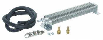 "Perma-Cool - Perma-Cool Two Pass System Fluid Cooler 12 x 2-1/2 x 1-1/2"" Tube Type 3/8"" Hose Barb Inlet/Outlet - Brackets/Hardware/Hose"