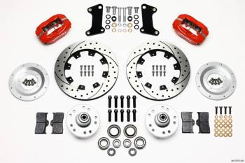 "Wilwood Engineering - Wilwood Engineering Dynalite Brake System Front 4 Piston Caliper 12"" Drilled/Slotted Rotor - Offset"