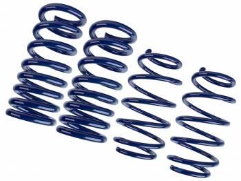 Steeda - Steeda Lowering Suspension Spring Kit Progressive 4 Coil Springs Blue Powder Coat - Ford Coyote/V6