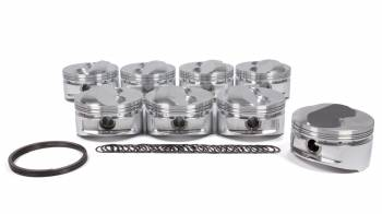 "JE Pistons - JE Pistons Small Block Dome Piston Forged 4.040"" Bore 1/16 x 1/16 x 3/16"" Ring Grooves - Plus 11.0 cc"
