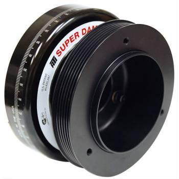 "ATI Products - ATI Products Serpentine Super Damper Harmonic Balancer 7.074"" OD SFI-18.1 Aluminum/Steel - Black"