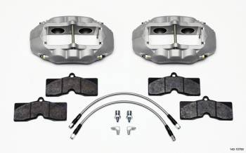 Wilwood Engineering - Wilwood Engineering D8-4 Brake Caliper 4 Piston Pads/Lines/Fittings Aluminum - Clear Anodize