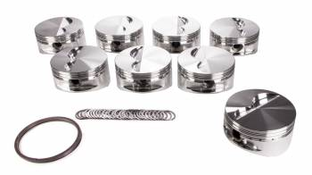 "JE Pistons - JE Pistons Small Block Flat Top Piston Forged 4.125"" Bore 1/16 x 1/16 x 3/16"" Ring Grooves - Minus 5.0 cc"
