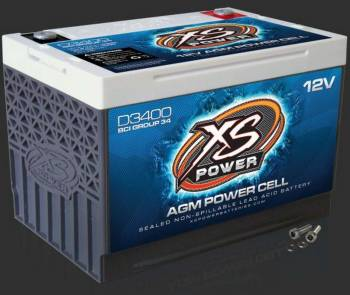 "XS Power Battery - XS Power Battery D-Series Battery AGM 12V 1000 Cranking Amps - Top Post Screw"" Terminals"