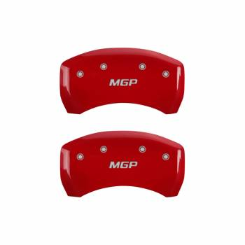 MGP Caliper Covers - Mgp Caliper Cover MGP Logo Brake Caliper Cover Aluminum Red Mopar LC-Body 2011-13 - Set of 4