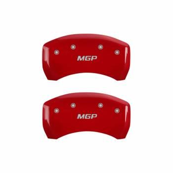 MGP Caliper Covers - Mgp Caliper Cover MGP Logo Brake Caliper Cover Aluminum Red Mopar LC-Body 2011-13 - Set of 4