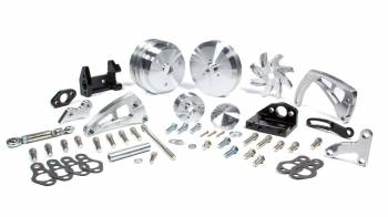 March Performance - March Performance Ultra Pulley Kit 6 Rib Serpentine Aluminum Clear Powder Coat - Electric Water Pump Small