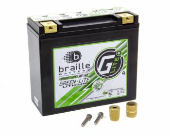 "Braille Battery - Braille Battery Green-Lite Battery Lithium 12 V 697 Cranking Amps - Top Post Screw"" Terminals"