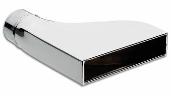 """Vibrant Performance - Vibrant Performance Weld-On Exhaust Tip 2-1/4"""" Inlet 2 x 7-3/4"""" Outlet 9-1/2"""" Long - Single Wall"""