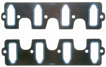 """Fel-Pro Performance Gaskets - Fel-Pro Performance Gaskets 0.060"""" Thick Intake Manifold Gasket Composite 1.190 x 3.340"""" Cathedral Port GM LS-Series - Pair"""