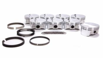 """Bullet Pistons - Bullet Pistons Forged Piston 4.165"""" Bore 1.5 x 1.5 x 3 mm Ring Grooves Minus 6.9 cc - Small Block Chevy"""