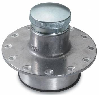 "Jaz Products - Jaz Products Twist Lock Cap Fuel Filler Cap Assembly Cell Mount Straight 2-1/2"" OD Neck 12-Bolt Flange - Aluminum"