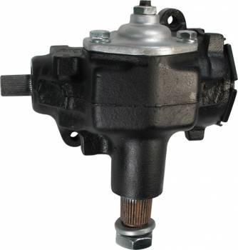 "Borgeson - Borgeson Manual Steering Box Saginaw 525 24 to 1 Ratio 3/4-36"" Spline - Iron"
