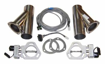 "Pypes Performance Exhaust - Pypes Performance Exhaust Electric Exhaust Cut-Out Bolt-On 3"" Pipe Diameter Y-Pipes/Hardware/Wire Harness Included - Stainless"