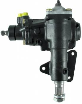 Borgeson - Borgeson Power Steering Box Delphi 600 Series 16 to 1 Ratio Iron - Black Paint