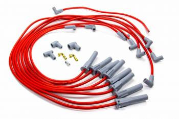 Advanced Fuel & Ignition Systems - Advanced Fuel & Ignition Systems Series 50 Spark Plug Wire Set Spiral Core 8.5 mm Red - Straight Plug Boots
