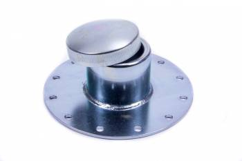 Jaz Products - Jaz Products Dragster Fuel Cell Filler Plate Vented Twist Lock Cap Straight Neck Flat Mount - 12-Bolt Flange