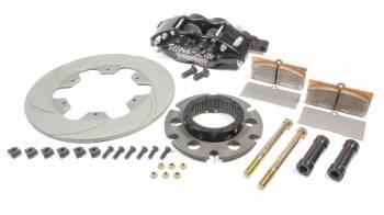 "Ultra-Lite Brakes - Ultra-Lite Brakes Feather Lite Brake System Rear 4 Piston Caliper 10.400"" Scalloped Titanium Rotor"