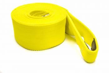"Tuflex - Tuflex 4"" Wide Tow Strap 30 ft Long 30,000 lb Capacity Nylon - Yellow"