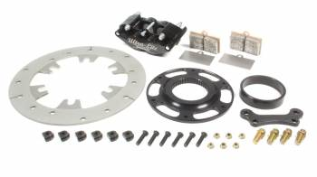 "Ultra-Lite Brakes - Ultra-Lite Brakes 240 Series Brake System Left Rear 4 Piston Caliper - 10.000"" Drilled Titanium Rotor"
