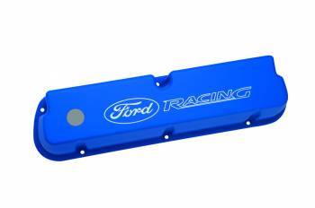 Ford Racing - Ford Racing Tall Valve Covers Baffled Breather Hole Oil Fill Cap - Ford Racing Logo - Blue Powder Coat