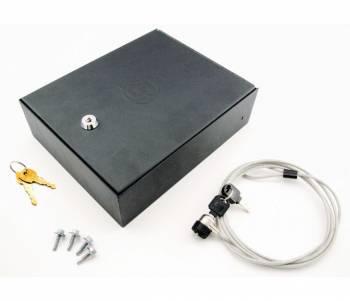 "Bestop - Bestop Locking Console Storage Box Steel 10"" Long x 8"" Wide x 3.25"" Tall Black Powder Coat - Universal"