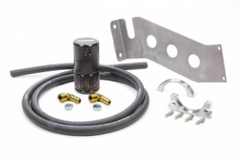 Moroso Performance Products - Moroso Performance Products Aluminum Air-Oil Separator Black Anodize - Ford Mustang 1987-93