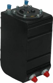 "RCI - RCI 1 gal Fuel Cell 6 x 6 x 12"" Tall 8 AN Male Outlet 8 AN Male Vent - Plastic"