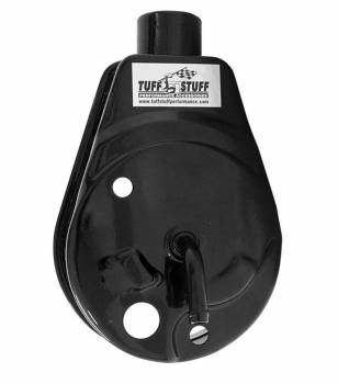 Tuff Stuff Performance - Tuff Stuff Performance Bolt-On Power Steering Reservoir Steel Black Powder Coat GM Saginaw Pump - Kit