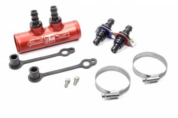 """Hot Head Engine Heaters - Hot Head Engine Heaters Pro Heater Check Valve Kit 1-3/4"""" Diameter Two 1/2"""" Hose Barb Panel Mount Adapter/Dust Caps/Ring Clamps - Aluminum"""