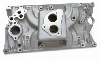 GM Performance Parts - GM Performance Parts TBI Throttle Body Flange Intake Manifold Single Plane Aluminum Natural - Vortec