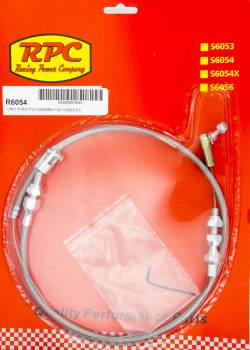 Racing Power - Racing Power 2 ft Long Throttle Cable Hardware Included Braided Stainless Universal - Natural