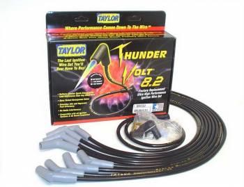 Taylor Cable Products - Taylor Cable Products ThunderVolt Spark Plug Wire Set Spiral Core 8.2 mm Black - 135 Degree Plug Boots