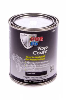 POR-15 - Por-15 Chassis Coat Paint Urethane Black 1 pt Can - Each