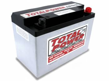 """Total Power Racing Batteries - Total Power Battery AGM Battery 12V 1500 Cranking Amps Top Post Screw"""" Terminals - 9.875"""" L x 6.875"""" H x 5.25"""" W"""