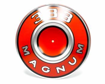 "Mopar Performance - MOPAR PERFORMANCE 10-3/8"" OD Engine Identification Plate 383 Magnum Logo Aluminum Orange - Mopar Air Cleaners"