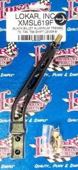 "Lokar - Lokar Single Bend Shifter Stick 6"" Aluminum Black Anodize - T5/T45/T56"