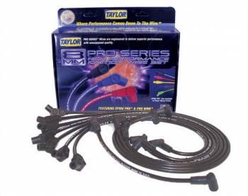 Taylor Cable Products - Taylor Cable Products Spiro-Pro Spark Plug Wire Set Spiral Core 8 mm Black - 135 Degree Plug Boots