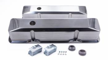 Racing Power - Racing Power Recessed Valve Covers Tall Baffled Breather Holes - Hardware - Polished
