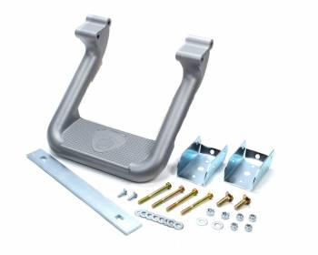 Carr - Carr Hoop II Step Bars Mount Kit Included Aluminum Silver Powder Coat - Ford Fullsize Truck 1981-98
