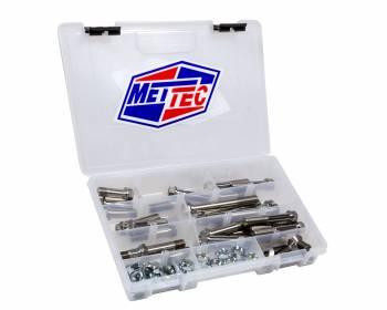 """Mettec - Mettec 1/2"""" Bolts Tubular Sprint Car Bolt Kit 9/16"""" Hex Head Nuts Titanium Natural - Maxim/Triple X Sprint Car Chassis- Kit"""